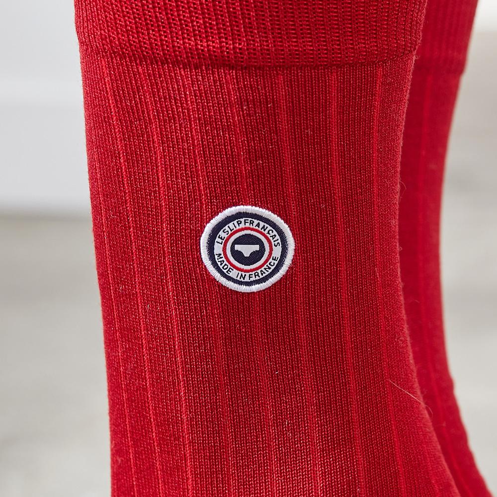 Fil d'Ecosse - chaussettes rouges