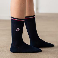 Les Nessy - chaussettes fil d'écosse bleu femme