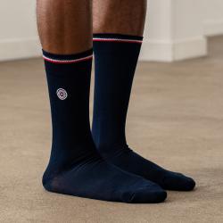 Les Nessy - chaussettes fil d'écosse bleu homme