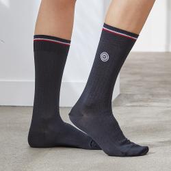 Les Nessy - chaussettes fil d'écosse gris femme