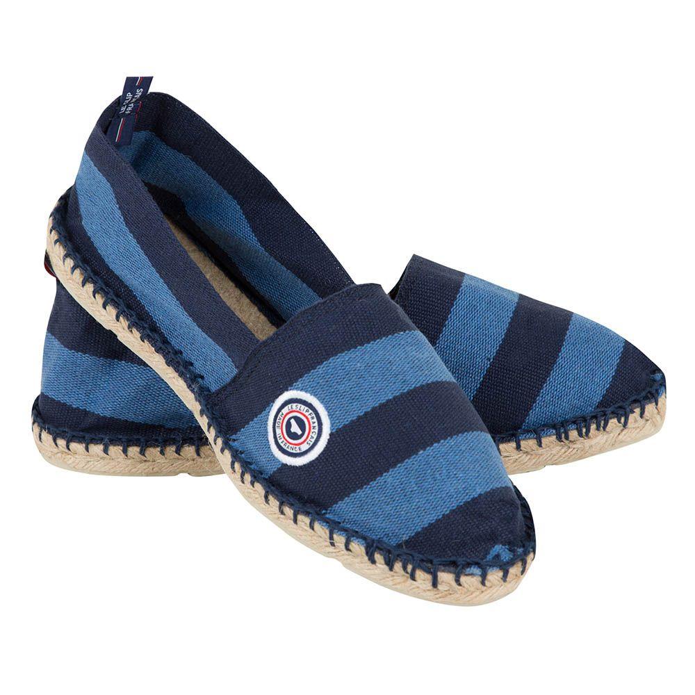 Chaussure Mixte Rayures Bleu Orage Le Slip Français