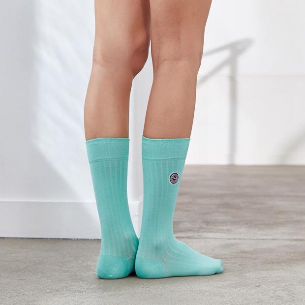 Chaussettes mixtes mi-hautes en fil d'Ecosse