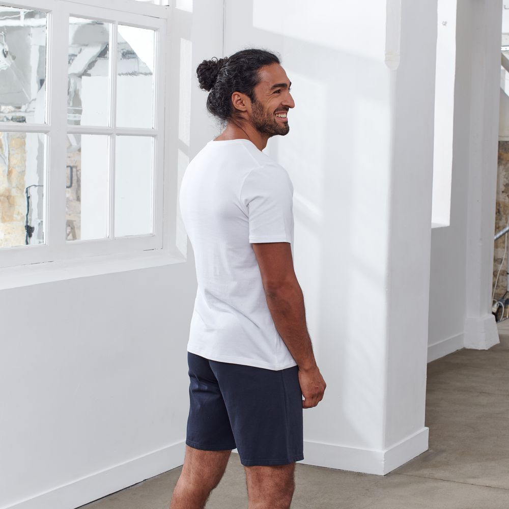 Ensemble Pyjama Homme Blanc/Bleu Le Slip Français