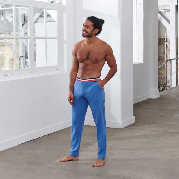 Hellblaue Schlafanzughose