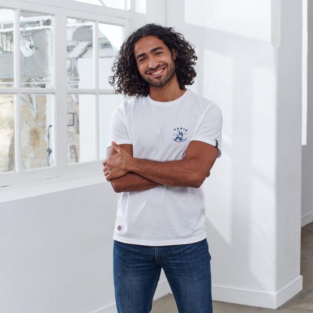 T-shirt mixte en coton fantaisie