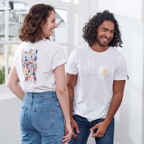 T-shirt en coton fantaisie
