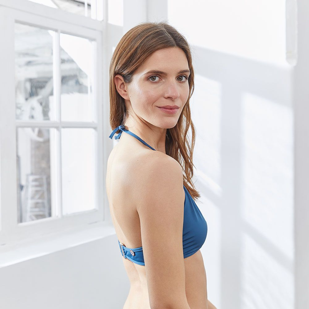 Haut De Maillot Femme Bleu Paon Le Slip Français