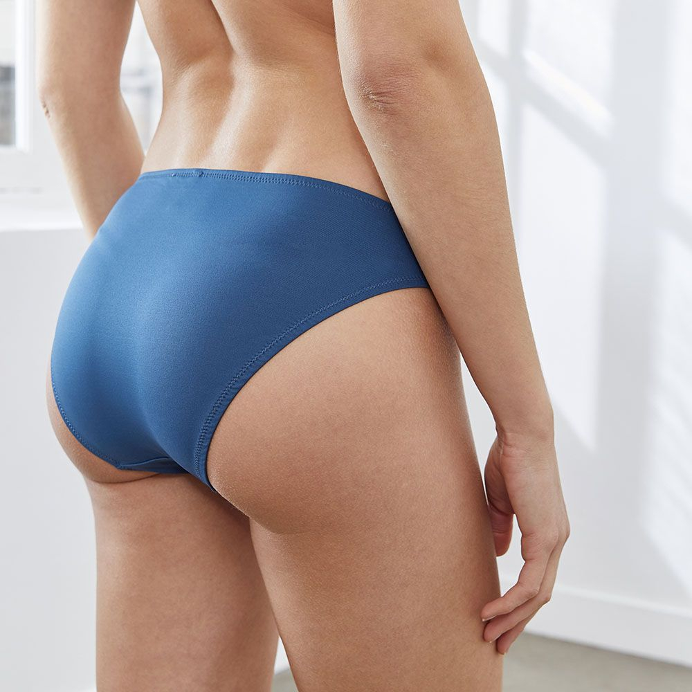 Bas De Maillot Femme Bleu Paon Le Slip Français