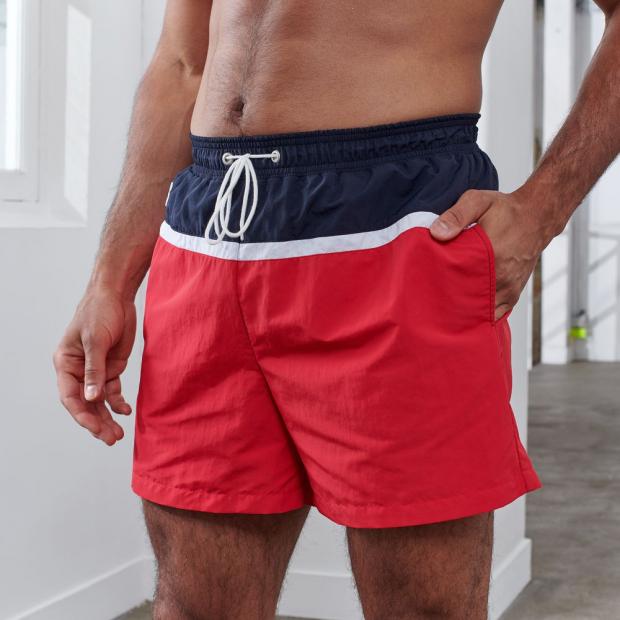 Tricoloured swim shorts