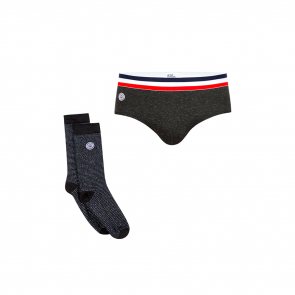 Slip et chaussettes assortis