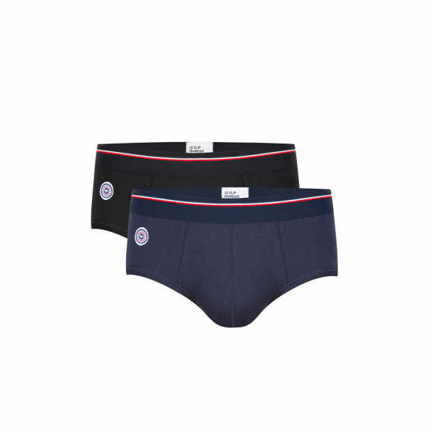 Pack of 2 modal briefs, black & blue