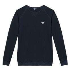 Le Hubert Slip marine - Sweat-shirt marine à écusson