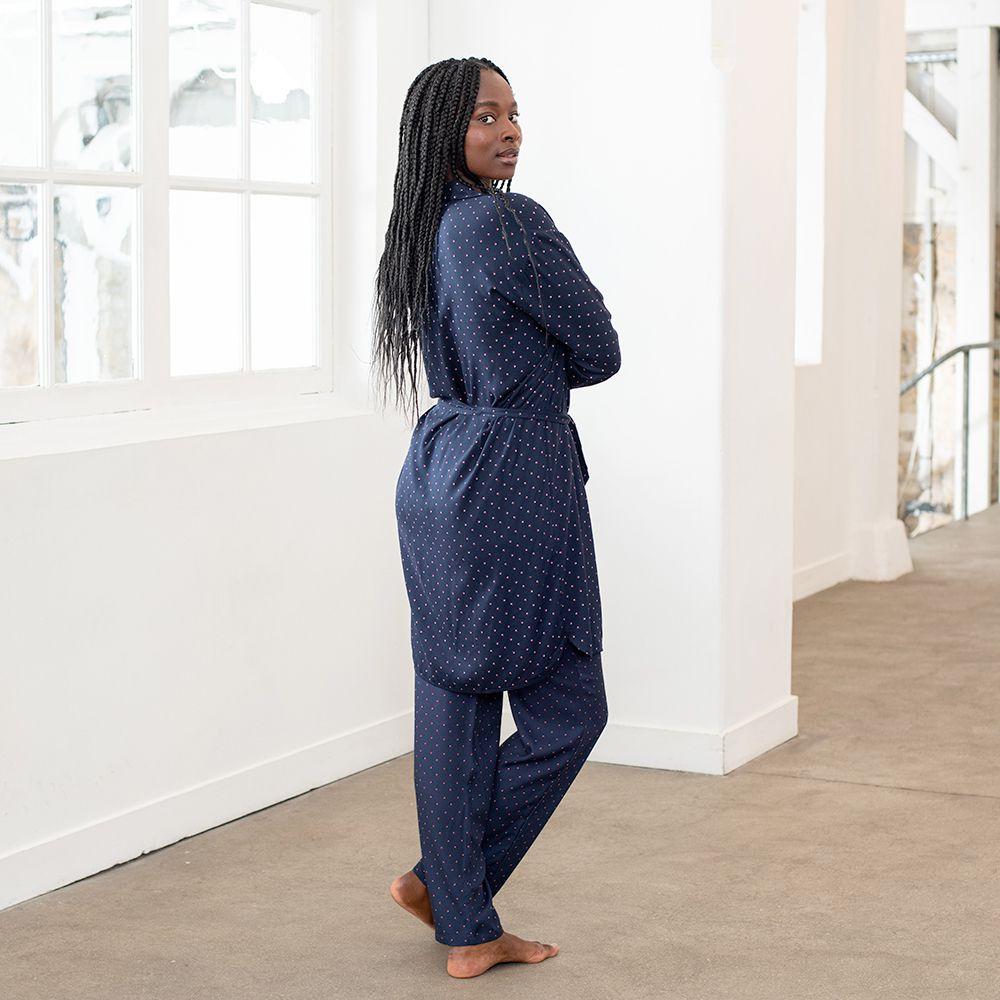 Pyjama Bas Femme Petits Pois Marine Le Slip Français