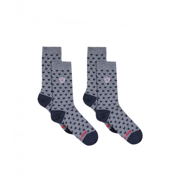 Duo de chaussettes en coton