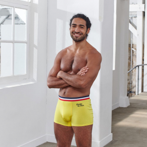 "Cotton boxer brief ""Leader of the tour"""