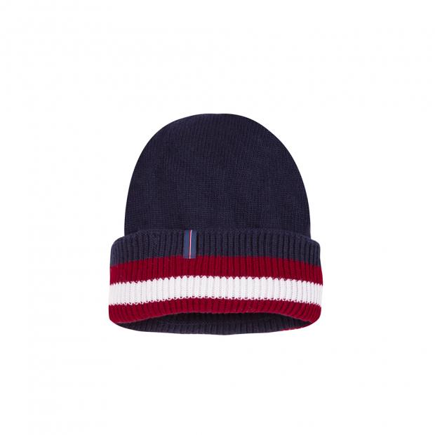 Mütze Marineblau Pflaume Beige