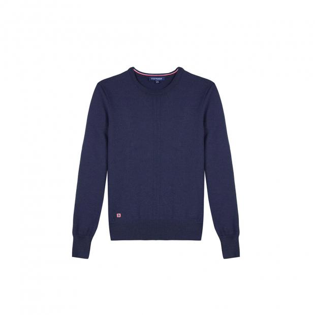 Marineblauer Pullover