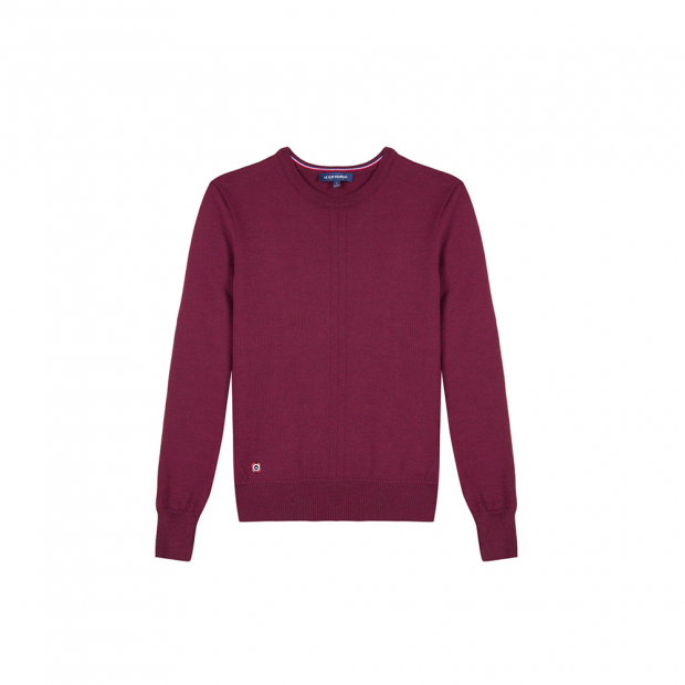Pflaumenfarbener Pullover