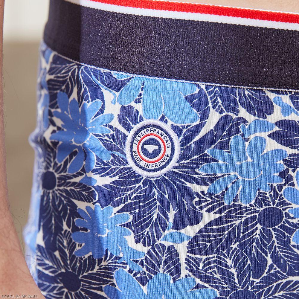 Boxer Homme Floral Bleu Le Slip Français