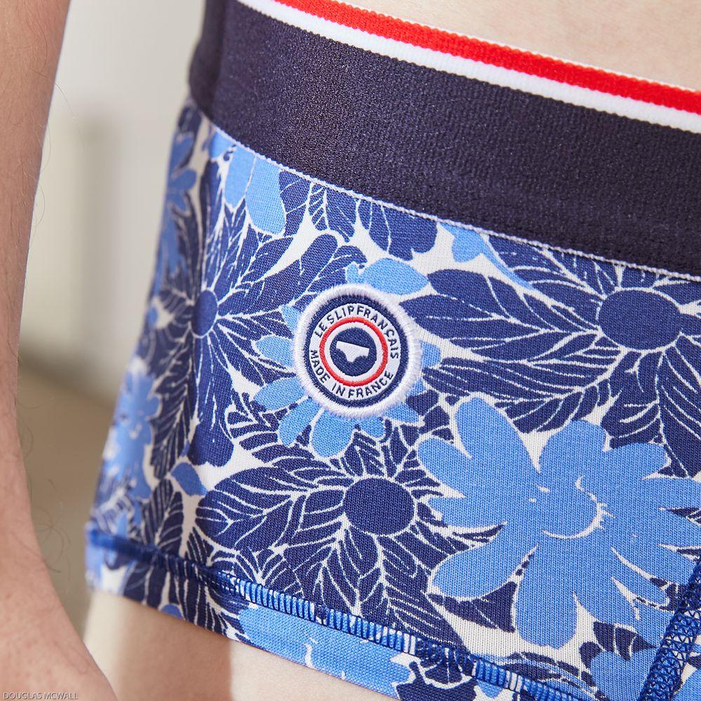 Slip Homme Floral Bleu Le Slip Français