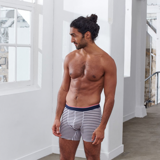 Long boxer brief made of organic cotton