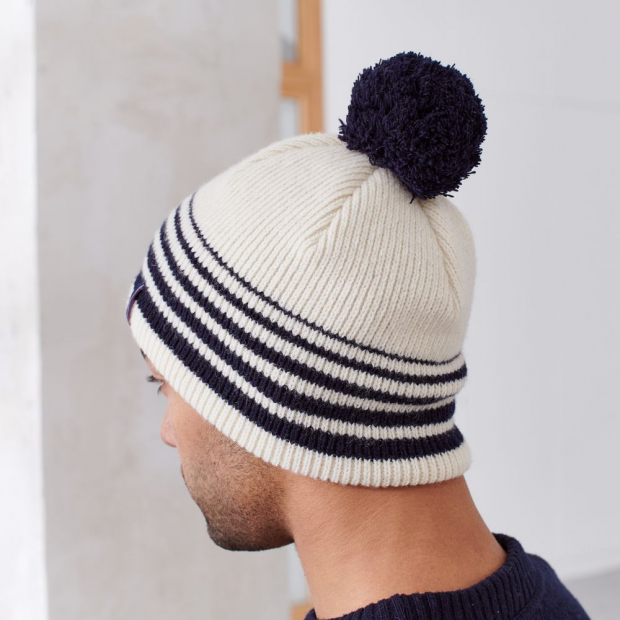 Beanie from French merino wool