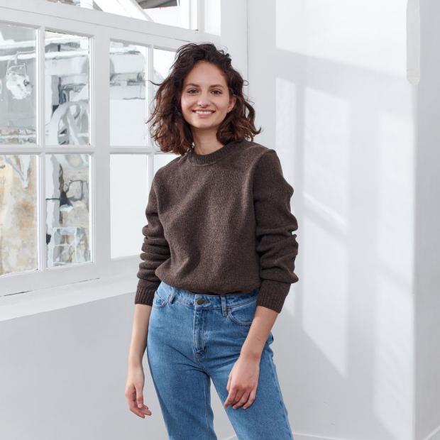 Pull en laine mérinos française