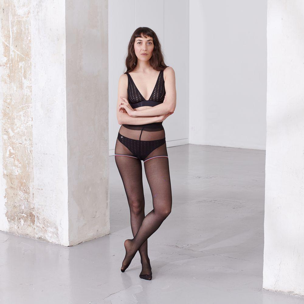 Collant Femme Voile Noir Le Slip Français
