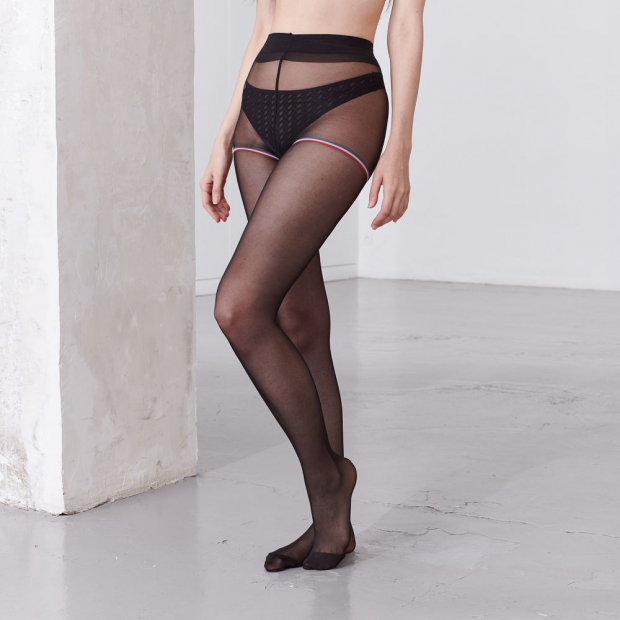 Collants voile noir