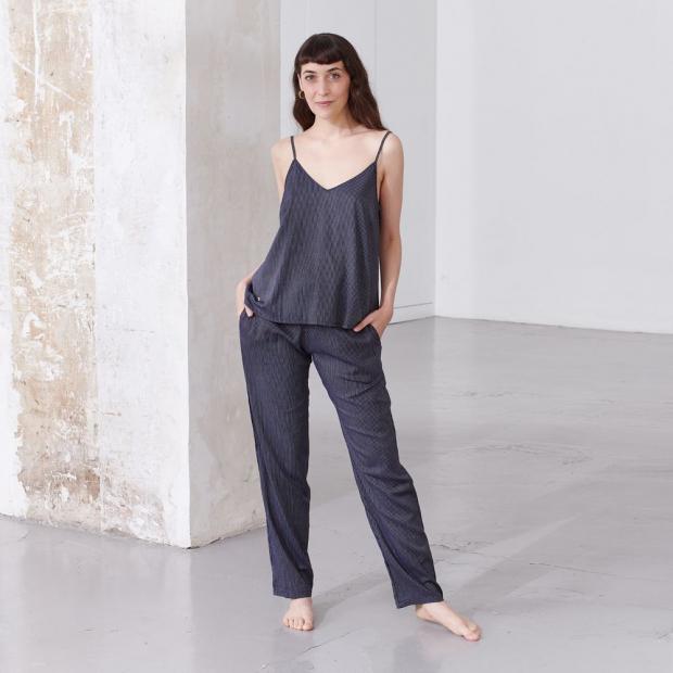 Caraco pyjama en coton-viscose