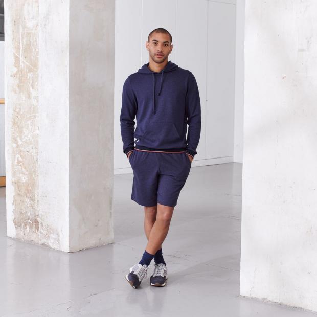 Shorts aus recyceltem Piqué