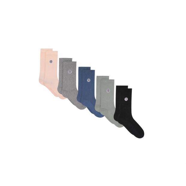 Pack of 5 pairs of organic cotton socks
