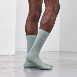 Chaussettes mi-hautes en coton bio piqué