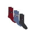 Les Lucas Trio Trio de chaussettes mi-hautes en coton bio