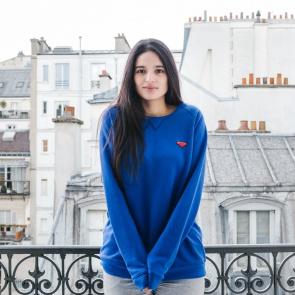 Klein blue sweat-shirt