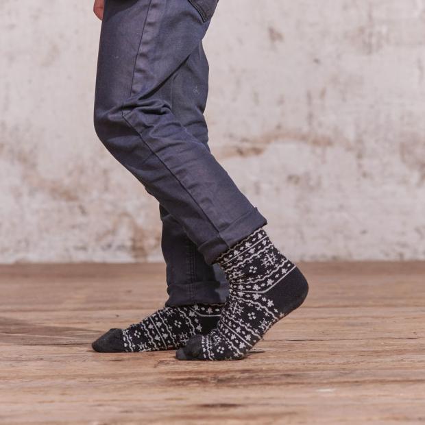 Chaussettes mi-hautes enfant en coton bio