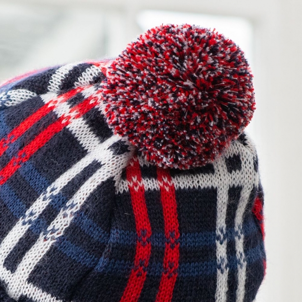 Bobble hat from recycled wool