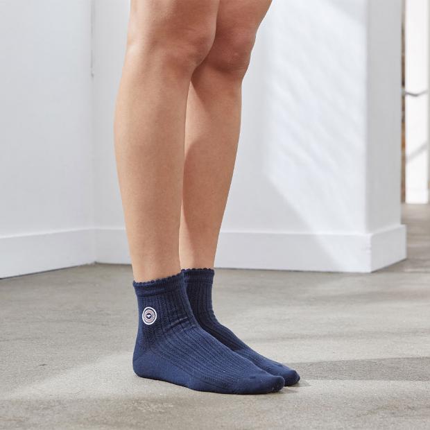 Marine blue socks