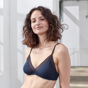 Blue classic bra