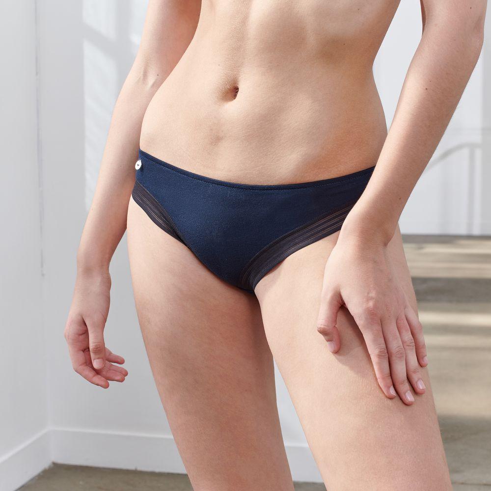 Culotte Et Bas Femme Bleu Le Slip Français