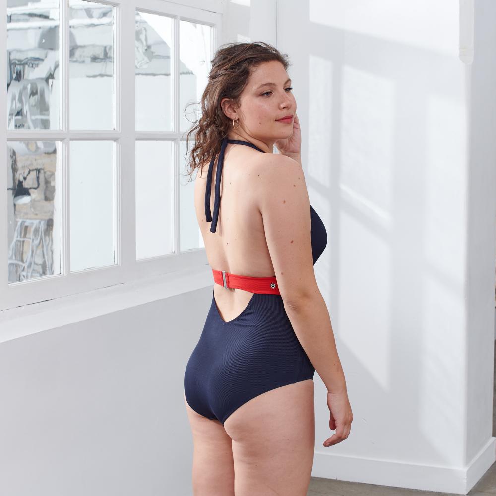 Une Piece Femme Marine / Rouge Le Slip Français
