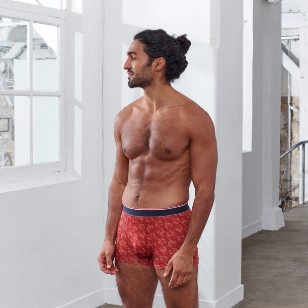 Boxer court imprimé en coton bio