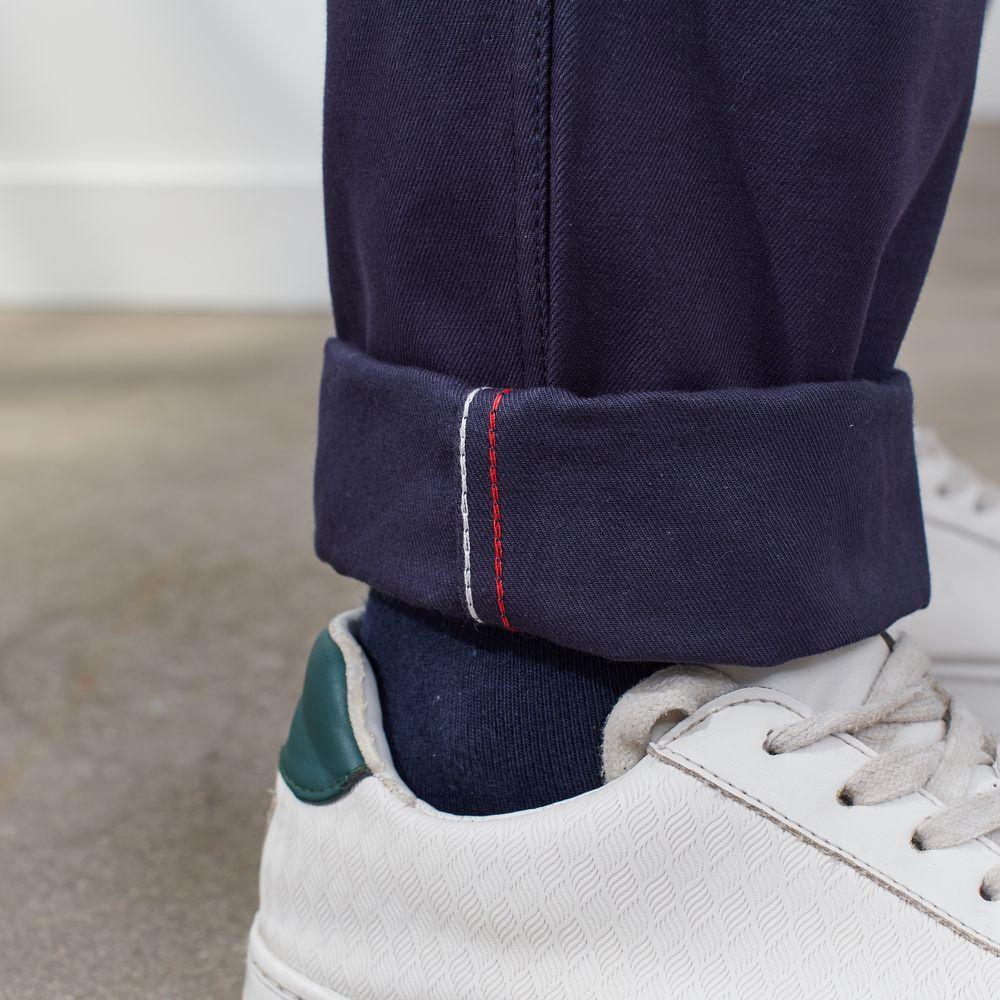 Pantalon Homme Le Gustave Bleu Marine Le Slip Français