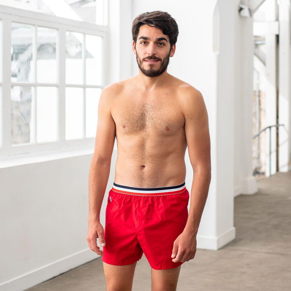 Calecon Homme Rouge Le Slip Français