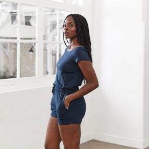 Short blue overall