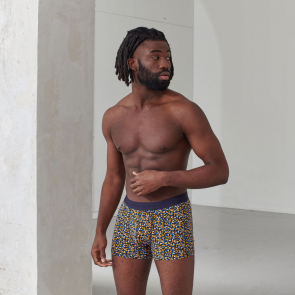 Organic cotton printed boxer shorts