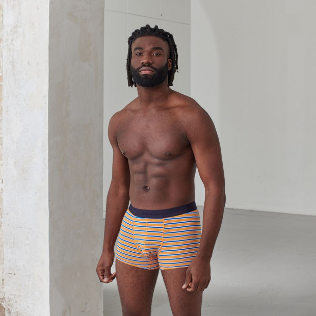 Striped boxer shorts in organic cotton