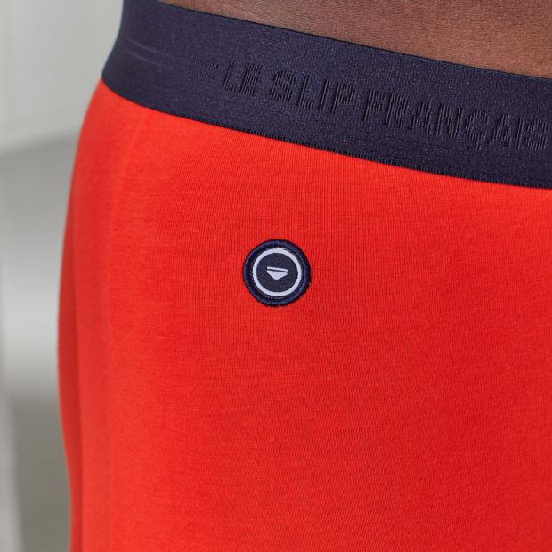 Unifarbene Boxershorts aus Bio-Baumwolle
