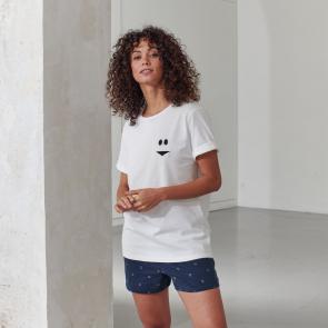 T-shirt mixte imprimé en coton