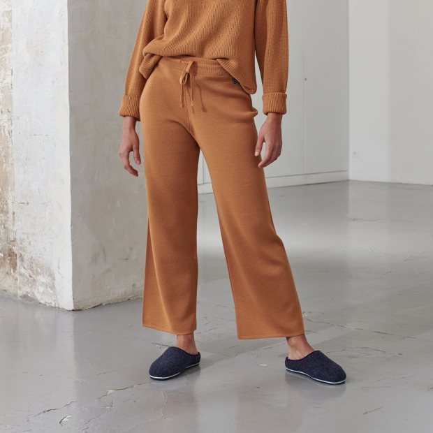 Pantalon en laine mérinos et acrylique